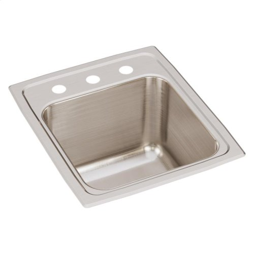 "Elkay Lustertone Classic Stainless Steel 15"" x 17-1/2"" x 10"", Single Bowl Drop-in Sink"
