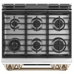 """GE 30"""" Smart Slide-In, Front-Control, Dual-Fuel Range With Warming Drawer"""