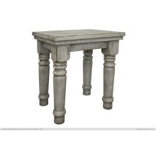 Chair Side Table Gray Finish