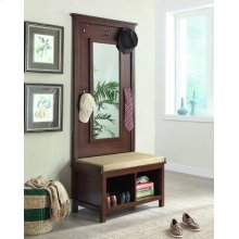 Transitional Raw Umber Hall Tree With Mirror