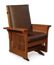 Prairie Mission Lounge Glider, Leather Cushion Seat Product Image