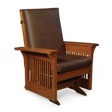 Prairie Mission Lounge Glider, Leather Cushion Seat
