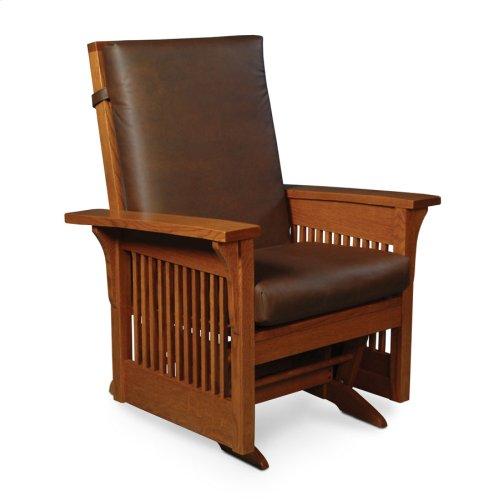 Prairie Mission Lounge Glider, Leather Cushion Seat