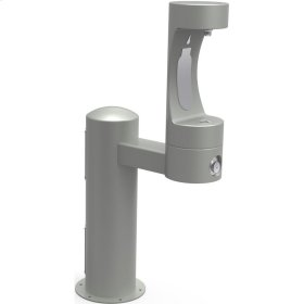 Elkay Outdoor EZH2O Bottle Filling Station Pedestal, Non-Filtered Non-Refrigerated Gray