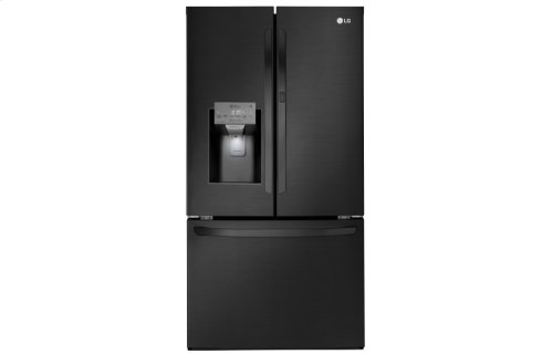 LG Matte Black Stainless Steel 28 cu.ft. 3-Door Refrigerator with Door-in-Door®