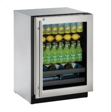 "Modular 3000 Series 24"" Beverage Center With Stainless Frame (lock) Finish and Right-hand Hinged Door Swing (115 Volts / 60 Hz)"