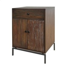 New Ari KD Small Cabinet 1 Drawer + 2 Doors, Rustic Natural