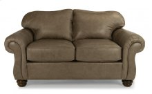 Bexley Leather Loveseat without Nailhead Trim