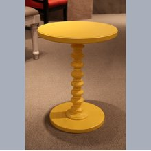 Yellow Round Spindle Table