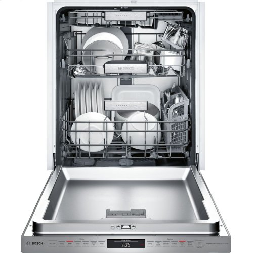 SAVE OVER $300 ON THIS BOSCH PREMIUM DISHWASHER / Benchmark Pckt Hndl, 6/6 cycles, 40 dBA, Prem 3rd Rck, UR/LR Glide, Touch Cntrls, Wtr Sfr, TimeLight - SS / BRAND NEW - FULL WARRANTY