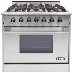 "NXRNXR 36"" Professional Range with Six Burners, Convection Oven, Natural Gas (DRGB3602) Special Offer available for a limited time!"
