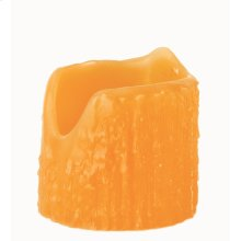"""3""""W X 4""""H Poly Resin Honey Amber Uneven Top Candle Cover"""