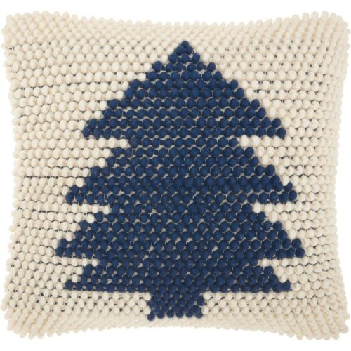 Home for the Holiday Dc569 Navy/ivory Throw Pillows