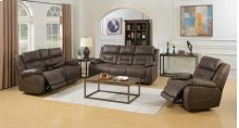 """Aria Pwr-Pwr Glider Recliner, Saddle Brown,40.5""""x44""""x41"""""""