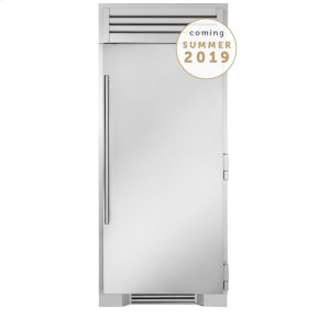 True Residential36 Inch Stainless Door Freezer Column - Left Hinge Stainless Solid