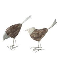 Distressed Mixed Material Bird (2 asstd)