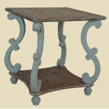 """Cottage"" Seafoam Square End Table"