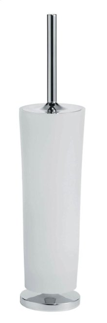 Free Standing Toilet Brush Holder - Brushed Nickel