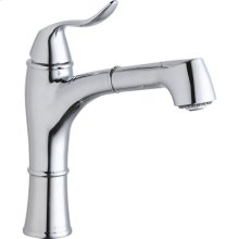 Elkay Explore Single Hole Kitchen Faucet with Pull-out Spray Lever Handle with Hi and Mid-rise Base Options Chrome