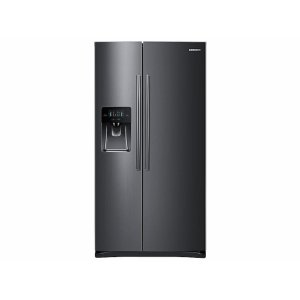 Samsung25 cu. ft. Side-by-Side Refrigerator with In-Door Ice Maker in Black Stainless Steel