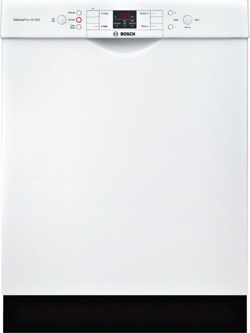 "ADA 24"" 300 Series Recessed Hndl, 4/4 Cycles, 46 dBA, RckMatic, 14 Pl Stgs - WH"