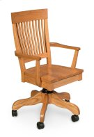 Homestead Arm Desk Chair, Leather Cushion Seat Product Image