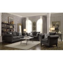 Emerson Charcoal Three-piece Living Room Set