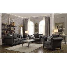 Emerson Charcoal Three-piece Living Room Set
