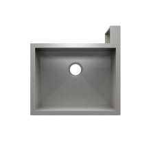 "SocialCorner 005301 - undermount with apron front stainless steel Kitchen sink , 23"" × 18"" × 10"" Right corner"