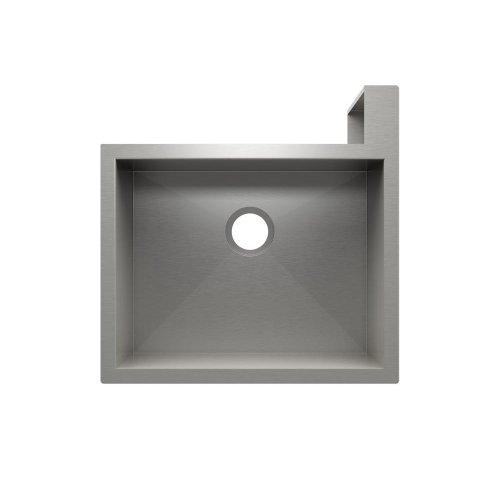 "SocialCorner 005301 - undermount with apron front stainless steel Kitchen sink , 23"" × 18"" × 10"" Right corner"
