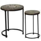 Silver Scroll Inlay Nested Side Table (2 pc. set) Product Image