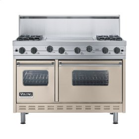 "Taupe 48"" Sealed Burner Range - VGIC (48"" wide, four burners 24"" wide griddle/simmer plate)"