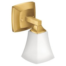 Voss brushed gold bath light