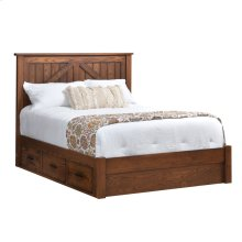 Full: Mountain Lodge Platform Bed with 2-Drawer Units