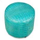 Round Footrest, Embossed Croc Aqua Lthr Product Image