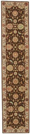 LIVING TREASURES LI04 BRN RUNNER 2'6'' x 12'