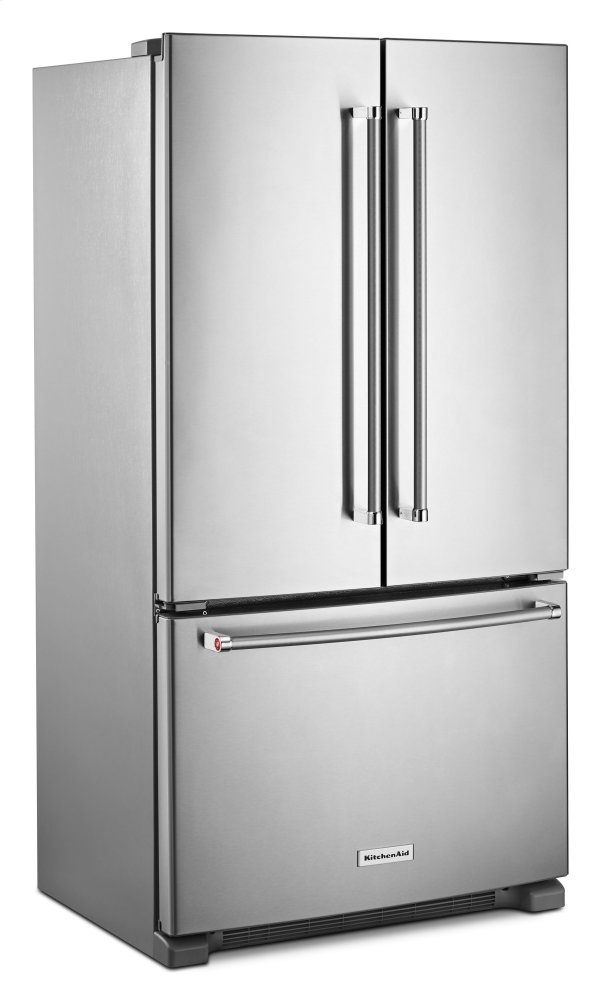 Charmant Kitchenaid 20 Cu. Ft. 36 Inch Width Counter Depth French Door Refrigerator  With Interior Dispense   Stainless Steel