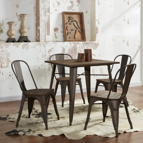 Modus Side Chair in Gunmetal, 4pk