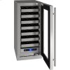 """5 Class 15"""" Wine Captain® Model With Stainless Frame (with Lock) Finish and Right-hand Hinged Door Swing (115 Volts / 60 Hz)"""