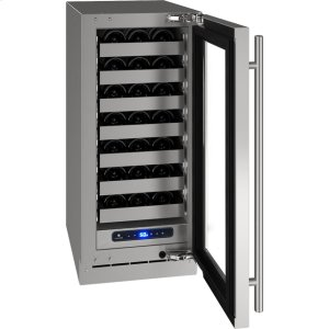"""U-Line 5 Class 15"""" Wine Captain(r) Model With Stainless Frame (With Lock) Finish And Right-Hand Hinged Door Swing (115 Volts / 60 Hz)"""