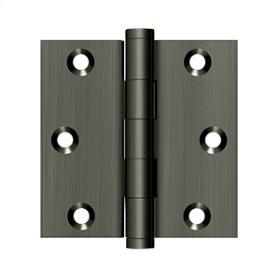 """3""""x 3"""" Square Hinge - Antique Nickel"""