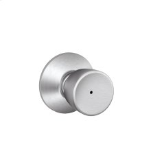 Bell Knob Bed & Bath Lock - Satin Chrome