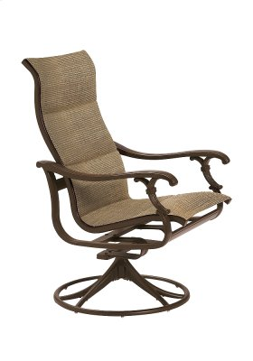 Ravello Padded Sling High Back Swivel Rocker
