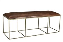 Bengal Manor Dimpled Iron and Leather Bench