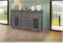 6 Drawer & 2 Doors Console