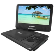 "9"" Portable Swivel DVD Player-5hr Battery"