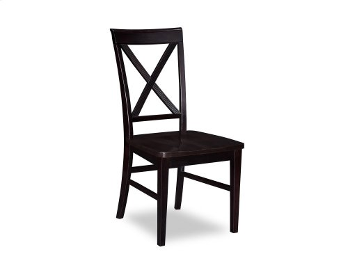 Lexi Dining Chairs Set of 2 with Wood Seat in Espresso