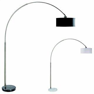 Floor Lamp -chrome W/bk Marble Base