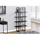 "BOOKCASE - 60""H / BLACK / BLACK METAL Product Image"