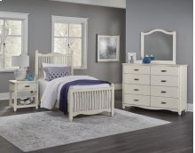 VAUGHAN BASSETT 404M 4-Piece American Maple Twin Bed, Dresser, Mirror & Night Table